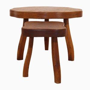 Brutalistische Dreibeinige Tische, 1950er, 2er Set
