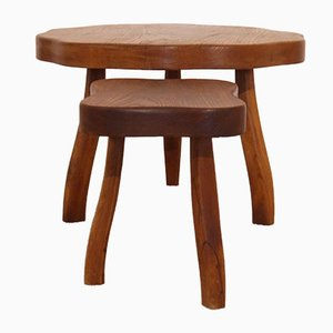 Tables Tripodes Brutalistes, 1950s, Set de 2