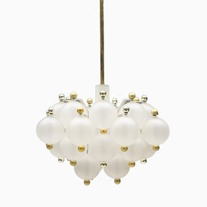 Austrian Glass Ball Chandelier from Kalmar, 1960s