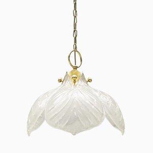 Lámpara vintage con cuatro hojas de cristal de Murano de Kaiser Leuchten