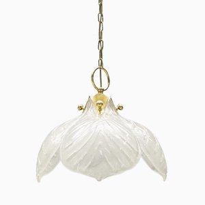 Lampe Vintage en Verre Murano avec Quatre Feuilles de Kaiser Leuchten