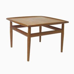 Tavolino in teak quadrato di Grete Jalk per France & Søn, 1962