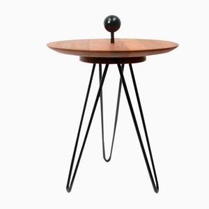 Scandinavian Tripod Teak Side Table, 1960s