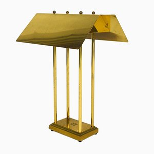 Lampada da tavolo in ottone di Peter Ghyczy, anni '80