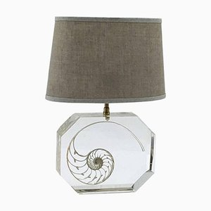 Resin and Shell Table Lamp, 1970