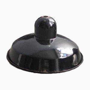 Lampada a sospensione vintage nera smaltata