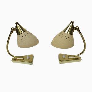 Lámparas de mesa de noche italianas vintage, años 50. Juego de 2