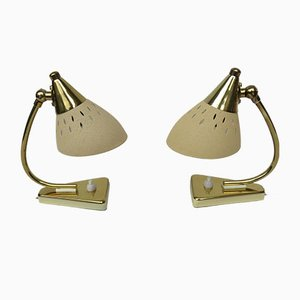 Vintage Italian Bedside Lamps, 1950s, Set of 2