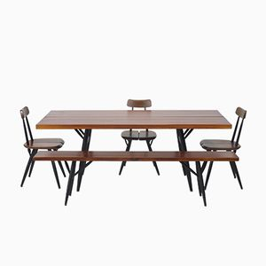 Pirkka Dining Set by Ilmari Tapiovaara for Laukkan Puu, 1950s
