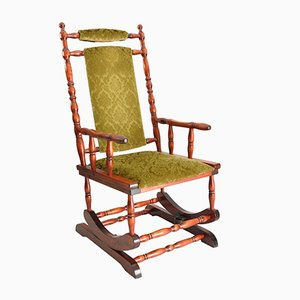 Scandinavian Wooden Rocking Chair, 1950s