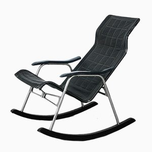 Leather Rocking Chair by Takeshi Nii, 1950s