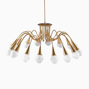 Scandinavian Starburst Chandelier from Sønnico, 1950s