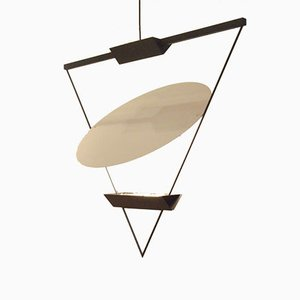 Italian Triangle Pendant Lamp by Mario Botta for Artemide, 1980s