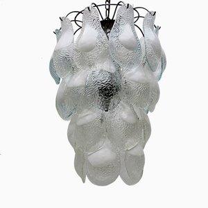 Lámpara de araña italiana Mid-Century de cristal de Murano de Vistosi, años 60