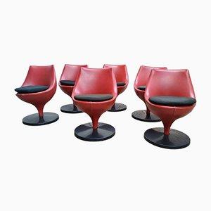 Vintage Polaris F960 Tulip Stühle von Pierre Guariche für Meurop, 6er Set