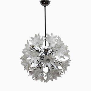 Lámpara colgante Sputnik italiana Mid-Century de cristal de Murano de Paolo Venini para Veart, años 60