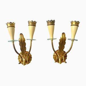Sconces by Angelo Lelii for Arredoluce, 1940s, Set of 2