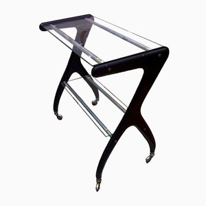 Mid-Century Bar Trolley in Metal and Glass, 1950s