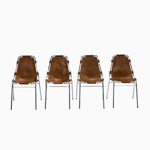 Les Arcs Dining Chairs by Charlotte Perriand, Set of 4