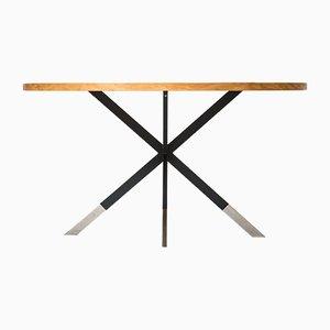 Tavolino da caffè Mid-Century in frassino e metalli, Finlandia, anni '60