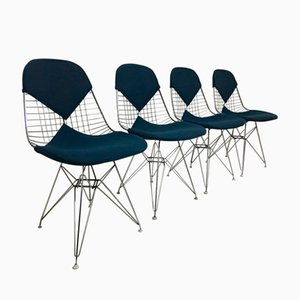 DKR-2 Wire Bikini Chairs by Charles and Ray Eames for Herman Miller, 1950s, Set of 4