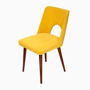 Sedia senza braccioli vintage gialla, anni '70