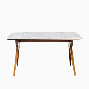 Table Basse Vintage avec Pieds Ciseaux, 1950s