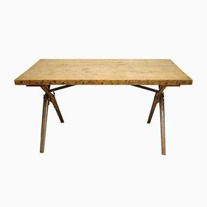 Industrieller Eichenholz Tisch mit Gewehr-Gestell, 1970er