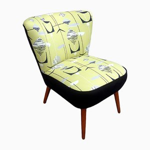Cocktail Chair with Sanderson Upholstery, 1950s