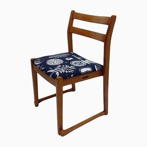 Chaise en Teck avec Tapisserie Motif Herbes