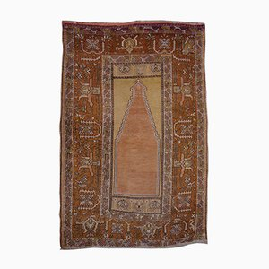 Vintage Turkish Hand-Knotted Prayer Rug