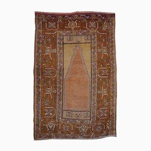 Vintage Turkish Hand-Knotted Prayer Rug
