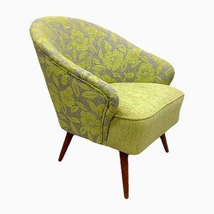 Grüner Floraler Sessel, 1960er