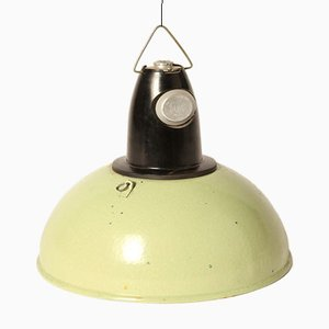 Vintage Light Green Enamel Pendant