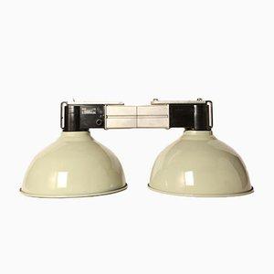 Grüne Vintage Lampe mit 2 Leuchten von Philips