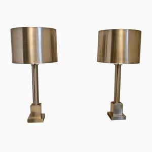 Stahl Tischlampen von Maison Charles, 2er Set