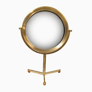 Vintage Brass Table Mirror with Bakelite Feet