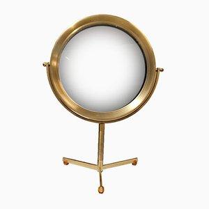 Vintage Brass Table Mirror with Bakelite Feet
