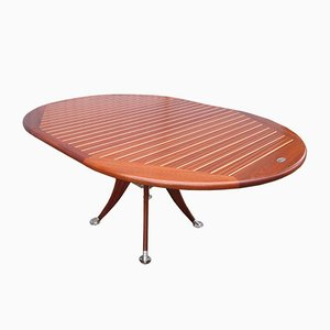 Vintage Extendable Round Deck Table from Deckline