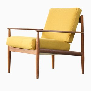 Yellow Armchair by Grete Jalk for France & Søn, 1960s
