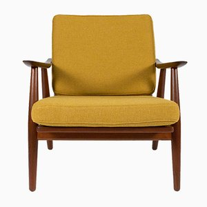 GE-270 Teak Lounge Chair by Hans J. Wegner for Getama, 1950s