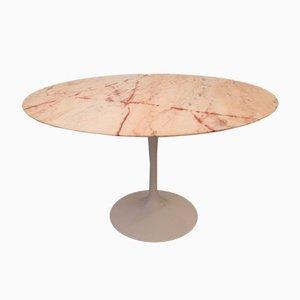Tavolo da pranzo in marmo rosa tulipano di Eero Saarinen per Knoll, anni '70