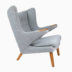 AP-19 Papa Bear Oak Armchair by Hans J. Wegner for A.P. Stolen, 1950s