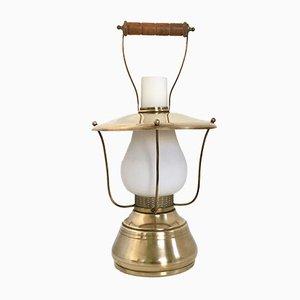 Lámpara de mesa italiana de linterna, años 50