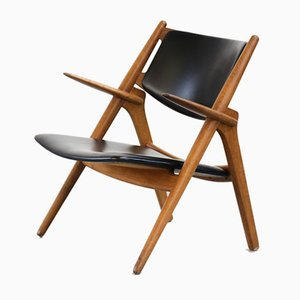 Mid-Century CH28 Sawbuck Chair by Hans Wegner for Carl Hansen