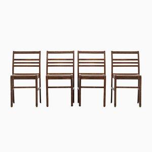 Chaises de Salon Mid-Century par René Gabriel, Set de 4