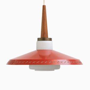 Lámpara de techo vintage de Lyfa, años 60