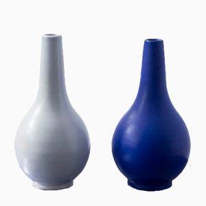 Vasi a forma di goccia di Vicke Lindstrand per Upsala Ekeby, anni '40, set di 2