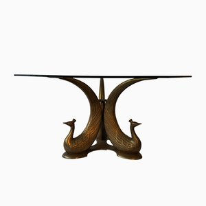 Hollywood Regency Peacock Coffee Table