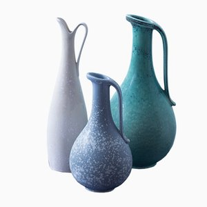 Mid-Century Stoneware Jugs by Gunnar Nylund for Rörstrand, Set of 3